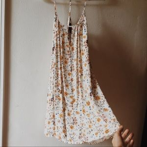 Forever21 Floral Dress Backless Cutout Front